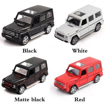 Coche de juguete para niños, modelo de vehículo de aleación a escala 1:32, luz de sonido para tirar hacia atrás, regalo para chico, todoterreno para Mercedes Benz G65 AMG