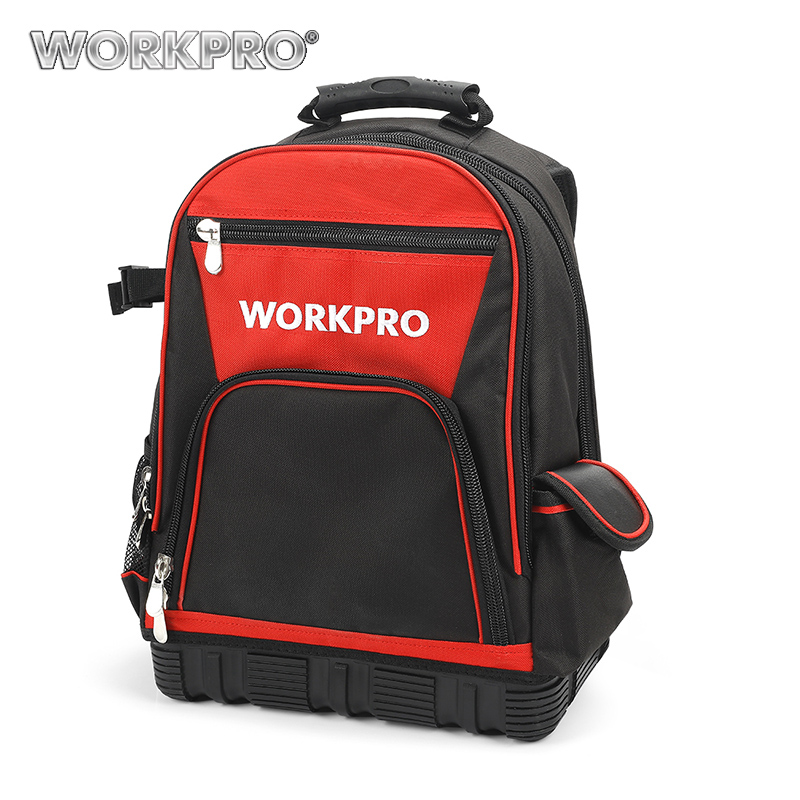 WORKPRO 17 Inches Tool Bag Electrician Backpack Handbag Tool Kits Bag Multifunction Bags