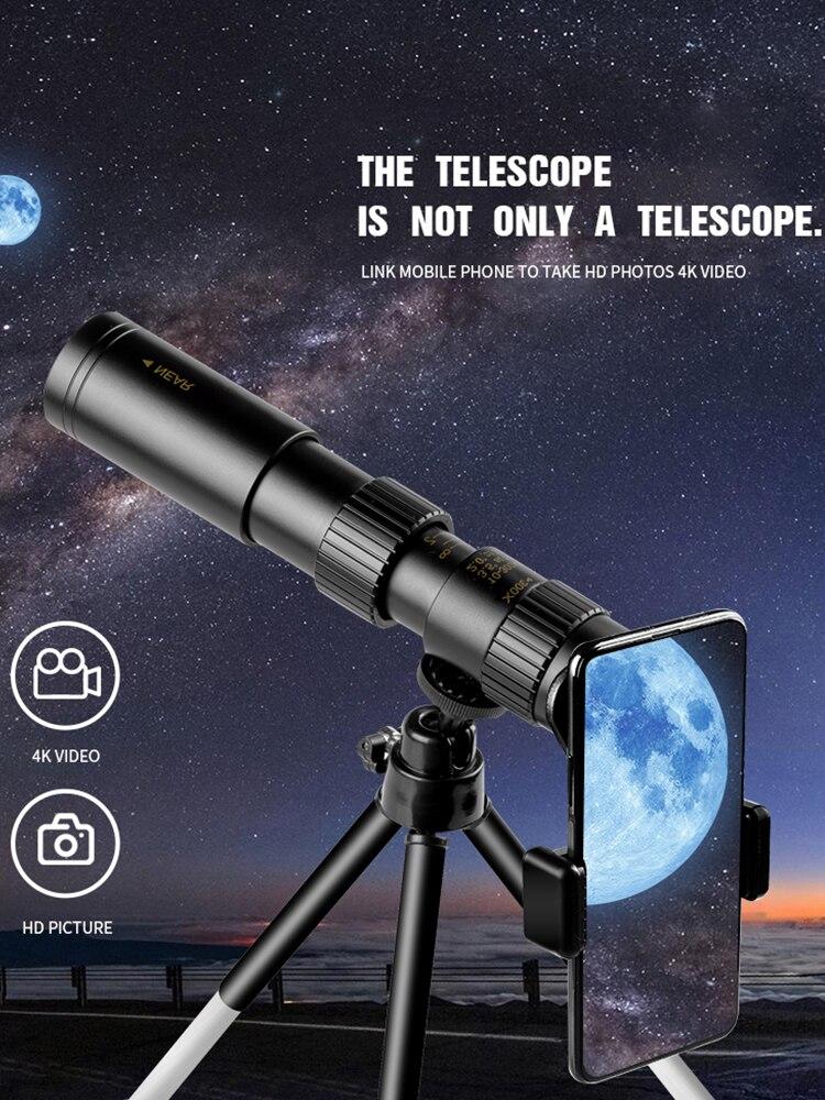 10-300x40 Монокуляр телескоп HD Водонепроницаемый мощный профессиональный бинокль для супер зум высокое качество BAK4-Prisms FMC для кемпинга