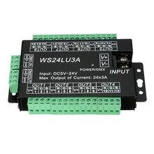 WS24LU3A 24CH DMX Controller 24 Channel 512 Decoder RGB Controller Decoder for RGB LED Strip Module Lights 24x3A