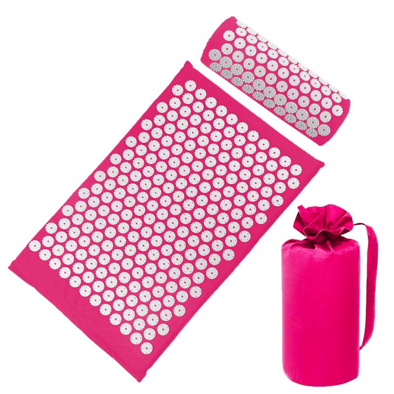 Acupressure Massage Mat with Pillow set to body Relaxation to Release Stress and Tension 43