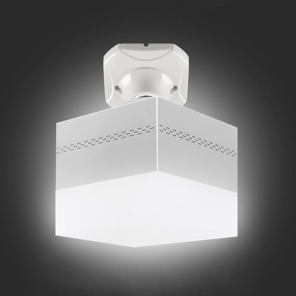 5W/9W/13W/28W E27Lamp Bulb High Power Energy Saving LED Light Indicator Rotating Portable Square Shape Fixture Home Decoration