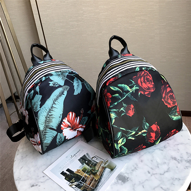 Small Flower Floral Backpack Fashion Women Backpack Floral Print Zipper Backpack Female Schoolbag For Teenagers