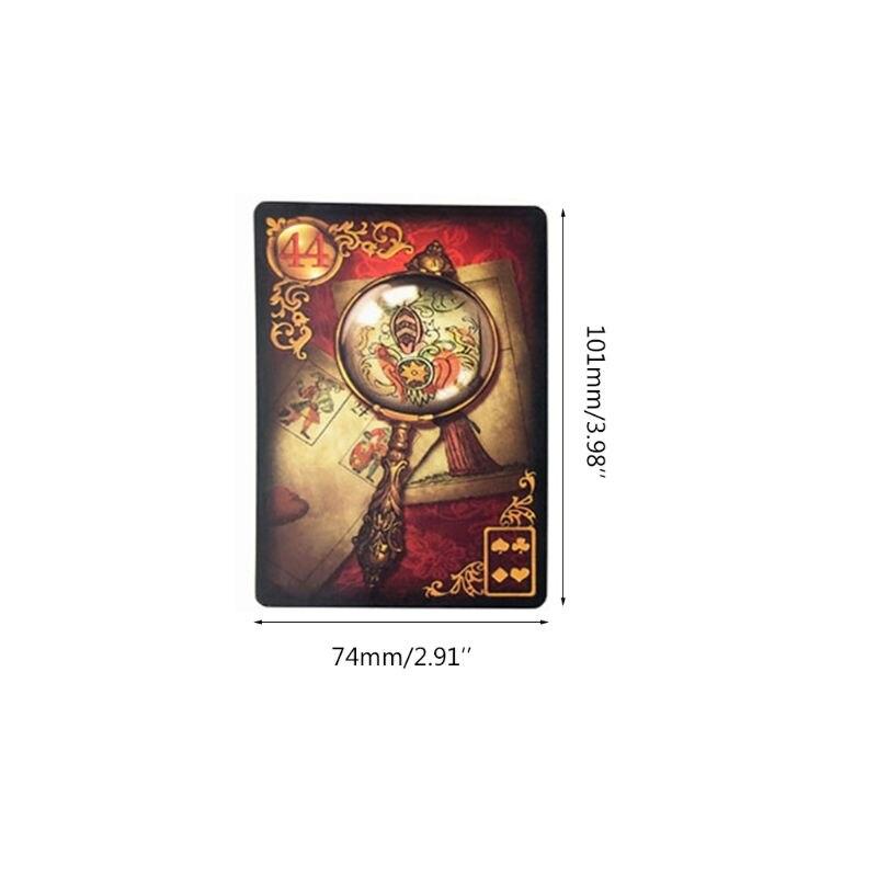 Dourado reverie lenormand seer cartão inglês completo