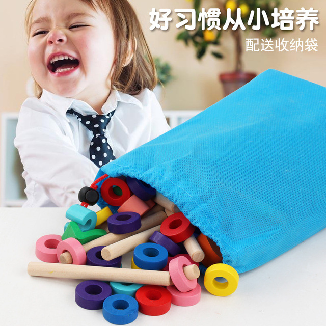 Wooden Multifunctional Digital Clock Cognitive Learning Puzzle Toy Color and Shape Baby Early Education Math Toys for Children