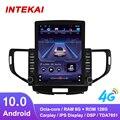 Автомагнитола Tesla с вертикальным экраном 9,7 дюйма, Android 10,0, GPS-навигацией, мультимедийный плеер для Honda Accord 8 2008-2012, Авторадио