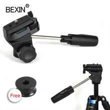 BEXINหัวUniversalสามมิติของเหลวมือถือวิดีโอPanoramicขาตั้งกล้องสำหรับกล้องDslr Monopodขาตั้งกล้อง