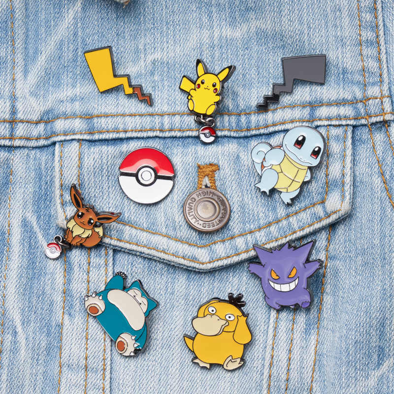 Pokemon Broche Leuke Pins Cosplay Badge Prop Pokemon Gaan Metal Enamel Psyduck Broochs Accessoires
