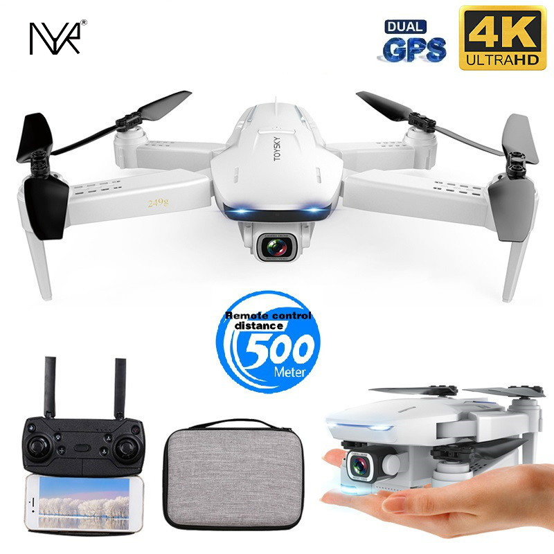 NYR New GPS Drone S162 4K HD Dual-camera 5G WIFI FPV Foldable Quad-rotor Dron One Key Return Distance of 500 Meters