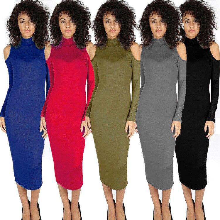 Madam Clothing OWLPRINCESS Autumn New Products Long Sleeve High Collar Slim Fit Sexy Evening Show Long Dress