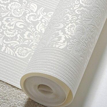 European 3D Vertical Vertical Stripe Thickening Nonwovens Wallpaper Warm Bedroom Living Room TV Background Wall Wallpaper