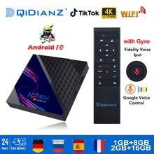 Caixa de tv android 10 v8 8g 16g 4k rk3228a quad core youtuber netfix media player inteligente android tv caixa definir caixa superior 2020 vs iptv