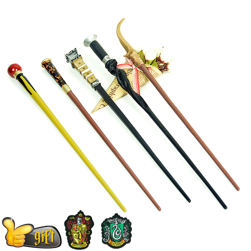 21 Kinds Of High Quality Potters Magic Wand Cosplay Metal/ Iron Core Dumbledore Luna Sirius Wands Toys Academy Badge As A Gift