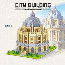 World famous architecture Cambridge University Oxford University model building blocks micro particles toys for children university females