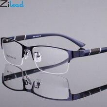 Zilead metade da liga do quadro terminou miopia glassse ultrlight lente clara óculos míopes prescrição eyeglasses0-1.0to-6.0