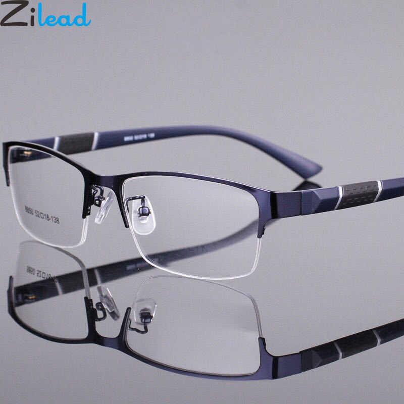 Zilead полуоправа из сплава, очки для близорукости, ультралегкие прозрачные линзы, близорукие очки по рецепту, очки 0-1.0to-6,0