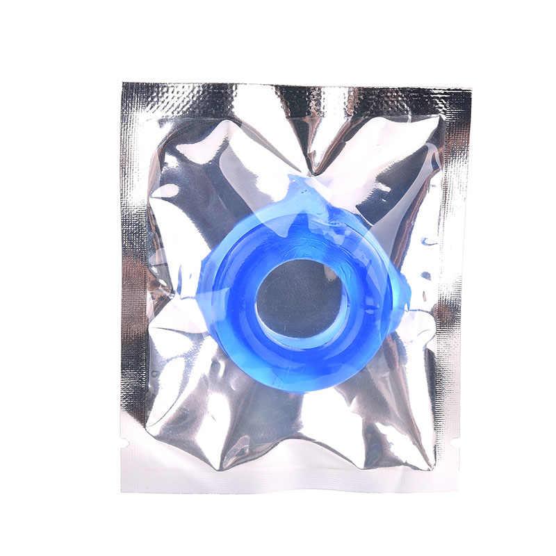 10Pcs דבק סיליקון פין טבעת עיכוב שפיכה טבעות גמיש דבק זין טבעת סופגניות זין טבעות, אבזרי מין לגברים
