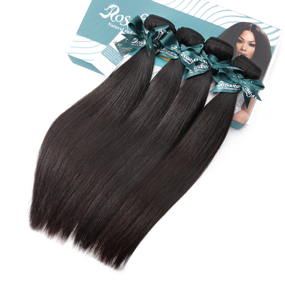 Rosabeauty 3Pcs/Lot Malaysian Straight Bundles 8A Nature Black 100% Human Hair Weave 30 Inch Remy Hair Extensions Shipping Free
