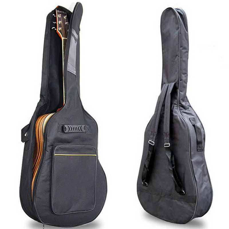 <font><b>40</b></font>/41 Inch <font><b>Guitar</b></font> Bag Carry <font><b>Case</b></font> Backpack Oxford Fabric Waterproof Soft <font><b>Case</b></font> <font><b>Guitar</b></font> Gig Bag Cover With Shoulder Straps Two Bags image