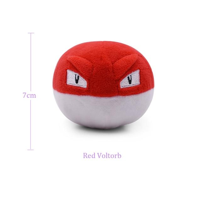 4 Styles Animal Cartoon Plush Peluche Dol Cute Voltorb Evolution Electrode Sun Moon Plush Red Blue Ball Stuffed Toys Soft Doll