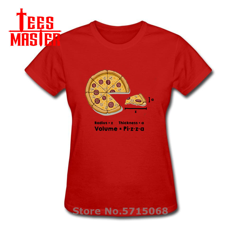 Funny Pizza formula T-shirts Geek Delicious mushrooms bacon pepperoni cheese sauce pizza T shirts woman homorous maths Tshirt image