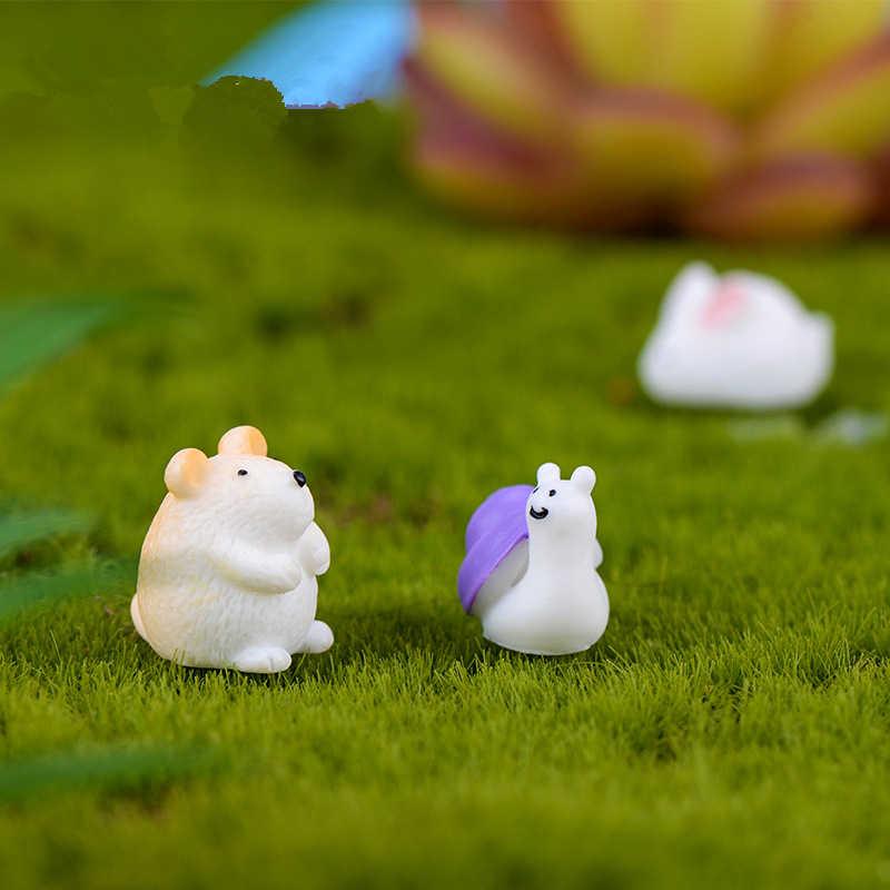 2020 gorąca sprzedaż mikro element dekoracji krajobrazu Mini zwierząt mały chomik królik ślimak soczyste mikro element dekoracji krajobrazu rzemiosło dekoracja żywiczna