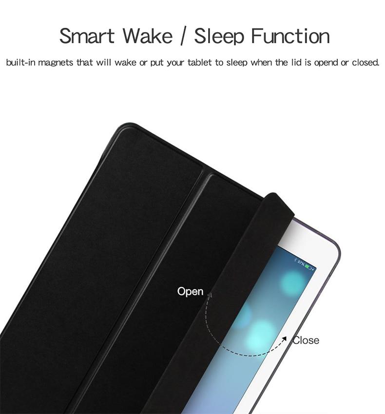 PU 8th Gen Apple A2428/A2429/Pc/.. for Smart-Cover Fundas Qijun-Case iPad Auto-Sleep