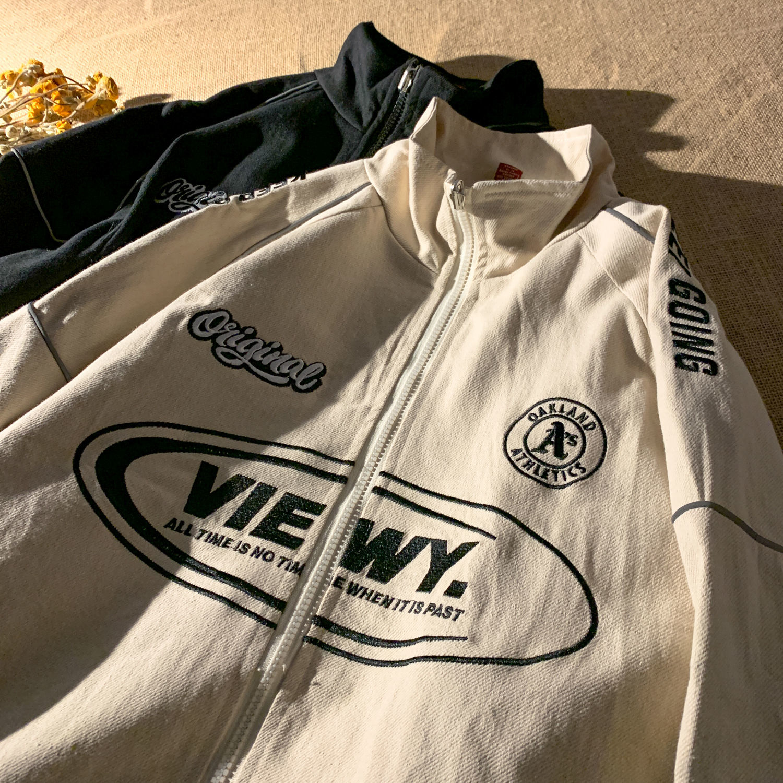 2021 nova primavera uniforme de beisebol solto rua harajuku oversize jaqueta masculino e feminino casais jaqueta reflexiva senhoras topos