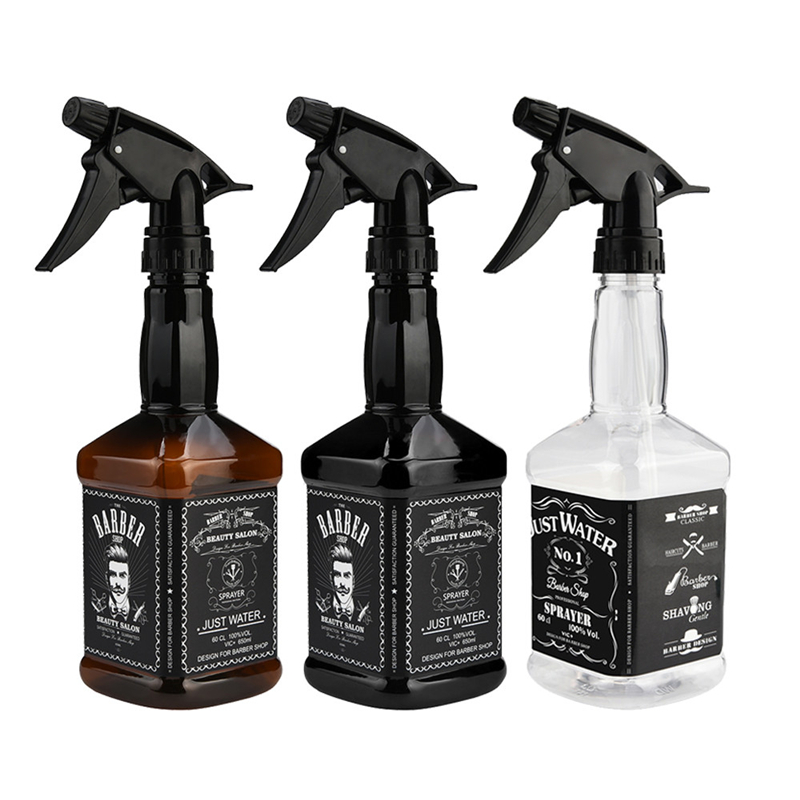 350/600ML Hairdressing Spray Bottle Salon Barber Hair Tools Water Sprayer Retro Whiskey Oil Head Watering Can For Barber Use