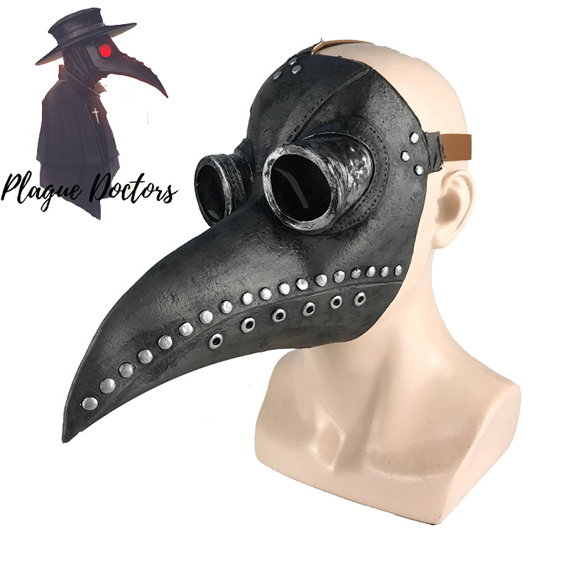Plague Doctor Mask Costume Steampunk Emulsion Bird Mask Halloween Plague Doctor Cosplay Masks Prop