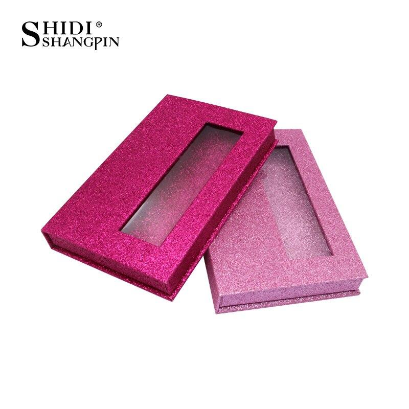 SHIDISHANGPIN Eyelashes Boxes For 5 Pairs Mink Eyelashes Glittering Box False Eyelashes Container Lashes Boxes In Bulk Faux Cils