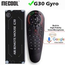 Universale G30 2.4G del Giroscopio Wireless Air Mouse 33 Tasti di Apprendimento IR Intelligente di Voce di Controllo Remoto per Android TV Box TV vs G10 G20