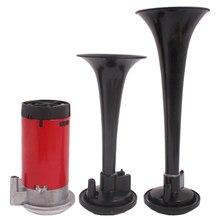 2 Tones electric steamer Musical Air Horn Kit double tube electrical control speaker 12V car whistle speaker som automotivo