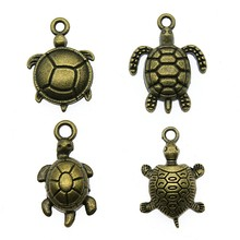 20pcs Sea Turtles Charm Antique Bronze Turtles Charm Pendants For Bracelets Tortoise Charm Making Jewelry cheap Ahri Zinc Alloy Animals Fashion DIY For Jewelry Making Metal Vintage Charms