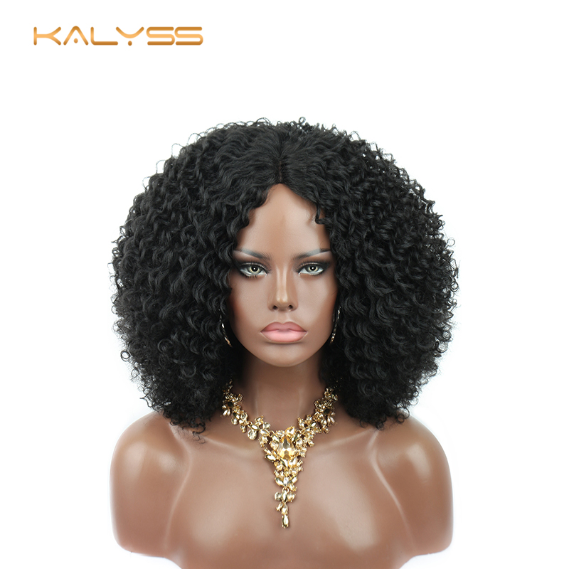 Kaylss 8 Inches Short Wigs Afro Kinky Curly Wig Synthetic Lace Front Wigs For Black Women Middle Part Short Lace Frontal Wigs