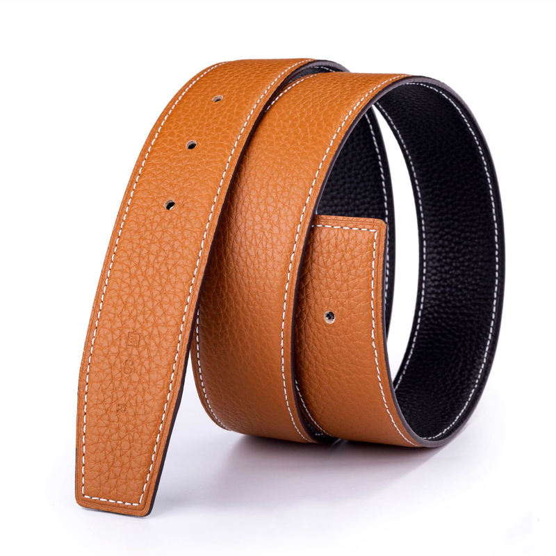 Luxury Genuine Top Full Grain Cow Leather  Belts  For Men For H 3.8 Cm Included 7 Colors