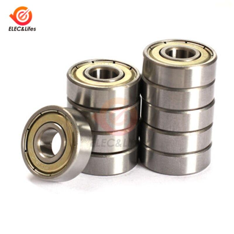 10Pcs Double Shielded Miniature High-carbon Steel Single Row 608ZZ ABEC-5 Deep Groove Ball Bearing 8*22*7 8x22x7MM 608 ZZ
