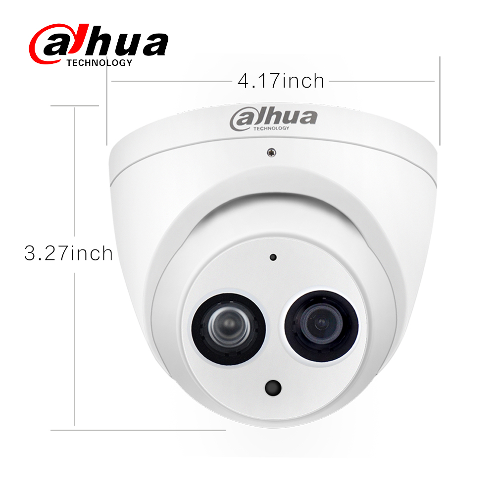 Image 3 - Dahua IPC HDW4631C A 6MP HD POE Network Mini Dome IP Camera Metal Case Built in MIC CCTV Camera 30M IR Night Vision Dahua IK10-in Surveillance Cameras from Security & Protection