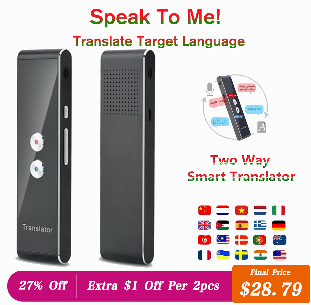 FLASH SALE] T6 40 Language Samrt Translator Real time