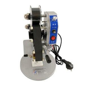 Image 5 - 220V 50/60Hz קטן נייד הדפסת תאריך כף יד סטנסיל סרט ישיר תרמית קידוד מכונת אריזת תיק קידוד קוד המתכנת