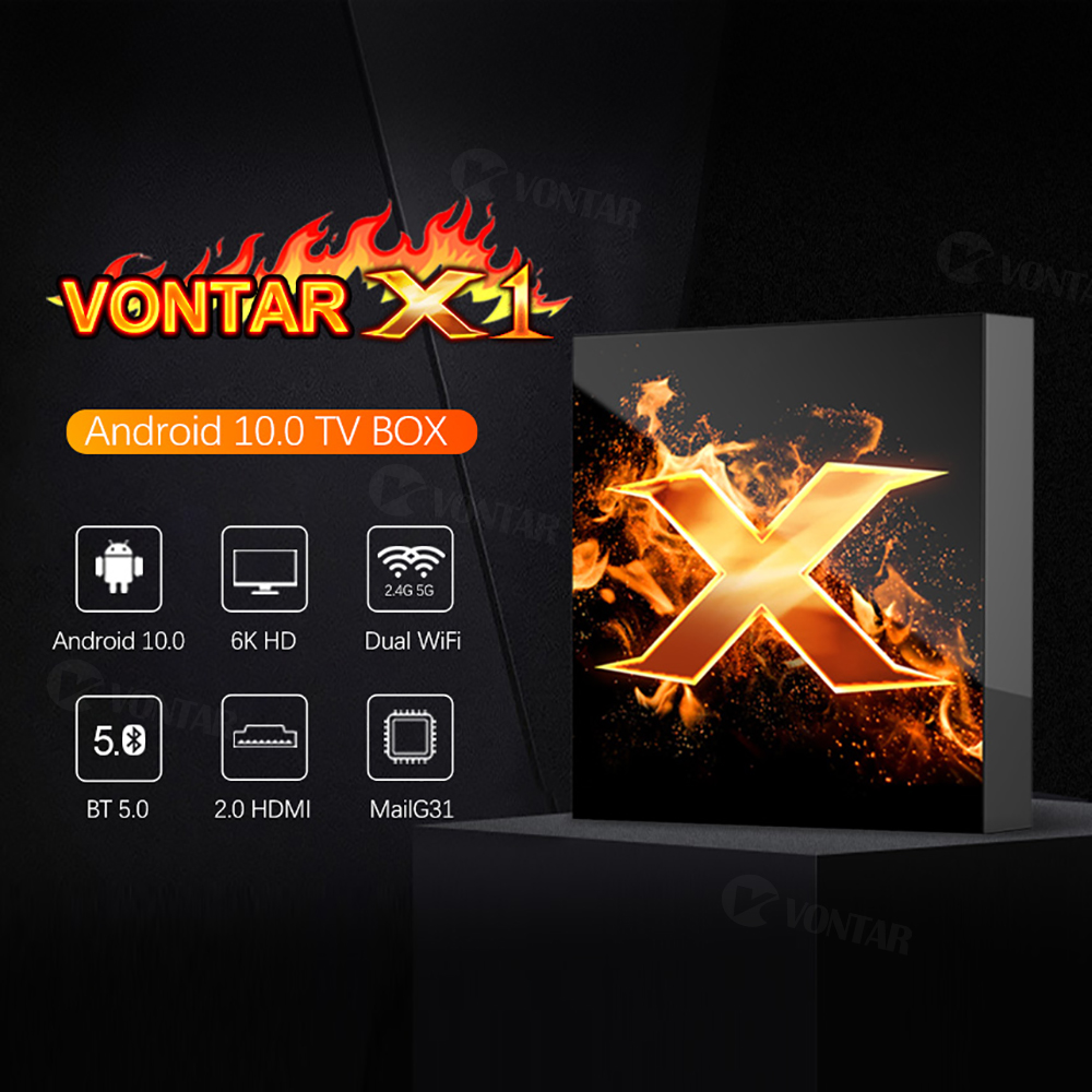 VONTAR X1 Smart-TV-Box Android 10 4g 64GB 4K 1080p 2,4G & 5G Wifi - Heim-Audio und Video - Foto 2