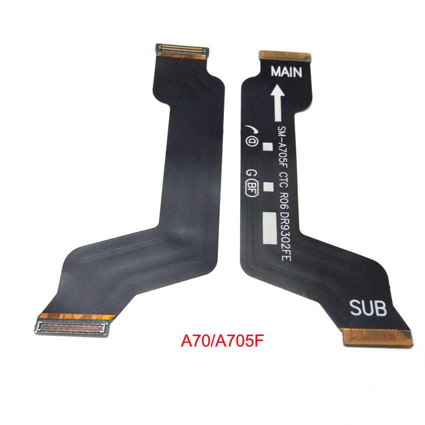 20 قطعة لسامسونج غالاكسي A10 A20 A30 A40 A50 A40S A60 A605S A705F اللوحة الرئيسية مجلس موصل USB شاشة الكريستال السائل فليكس كابل