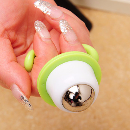Cute Mini Potted Plant Shaped Roller Ball Massager Handheld Body Manual Massager Bead Relaxation Neck Foot Face Lift Beauty Tool