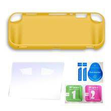 For Nintend Switch Lite Silicone Protection case switch mini shell Cover with Tempered Glass screen protector