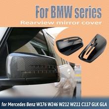 Rearview 2pcs Car Styling Side Carbon Fiber Pattern for Mercedes Benz W176 W246 W204 W212 W221 C117 X204 X156 Mirror Cover Caps