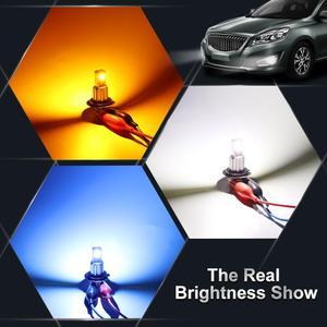 Image 4 - 1 sztuk H7 żarówka Led Super Bright CSP chipy 1800lm Auto światło przeciwmgielne samochodowe lampy żarówki światło przeciwmgielne samochodowe żarówki 12V 6000K