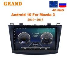 GRAND 2 Din Autoradio Android 10 Für Mazda 3 2010 - 2015 GPS Navigation Multimedia Video Player mit RDS 4G 2din dvd Autoradio