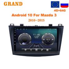 GRAND 2 Din Car Radio Android 10 For Mazda 3 2010-2015 GPS Navigation Multimedia Video
