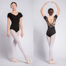 バレエダンスレオタード半袖バレエダンスの摩耗大人の高品質ダンスの練習衣装女性体操レオタード