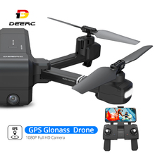DEERC DE25 Drone GPS Glonass FPV WIFI RC Drones with Camera Full HD 1080P Professional GPS Quadrocopter Quadcopter Kvadrakopter цена